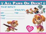 Free Skye Paw Patrol Birthday Invitations Paw Patrol Skye Birthday Party Invitations Invites with or