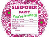 Free Slumber Party Invitations Invitations for Sleepover Party