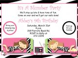 Free Slumber Party Invitations Slumber Party Birthday Invitation Pajama Party Sleepover