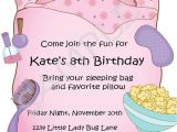 Free Slumber Party Invitations to Print Free Printable Slumber Party Birthday Invitations