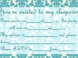 Free Slumber Party Invitations to Print Invitations for Sleepover Party