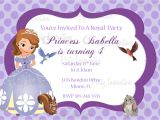 Free sofia the First Birthday Invitations Printable sofia the First Birthday Party Invitation Plus Free