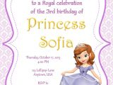 Free sofia the First Birthday Invitations sofia the First Party Invitation Mickey Mouse
