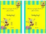 Free Spongebob Party Invitation Templates Spongebob Birthday Invitation Best Party Ideas