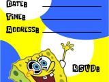 Free Spongebob Party Invitation Templates Spongebob Birthday Invitations Template Best Template