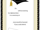 Free Templates for Graduation Party Invites 40 Free Graduation Invitation Templates Template Lab