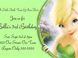 Free Tinkerbell Printable Birthday Invitations Free Templates for Birthday Invitations Drevio