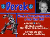 Free Transformer Birthday Invitations Transformer Invitation Free