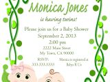 Free Two Peas In A Pod Baby Shower Invitations Two Peas In A Pod Twins Baby Shower Printable