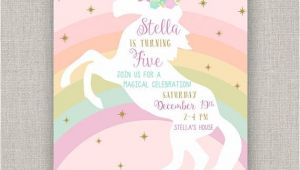 Free Unicorn Invitations for Birthday Party Best 25 Unicorn Birthday Invitations Ideas On Pinterest