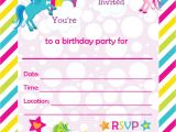 Free Unicorn Invitations for Birthday Party Free Printable Golden Unicorn Birthday Invitation Template