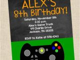 Free Video Game Birthday Invitation Template Personalized Video Game Birthday Party Printable