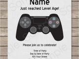 Free Video Game Birthday Invitation Template Playstation Party Printables Invitations Decorations
