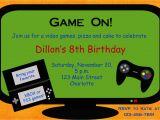 Free Video Game Birthday Invitation Template Video Game Birthday Party Invitation Video by