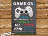 Free Video Game Birthday Invitation Template Video Game Invitation Video Game Birthday Gaming