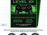 Free Video Game Birthday Invitation Template Video Game Party Invitations Video Game Invitation Video