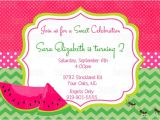 Free Watermelon Birthday Invitations Items Similar to Pink Watermelon Invitation Printable