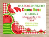 Free Watermelon Birthday Invitations Watermelon Invitation Watermelon Printable by
