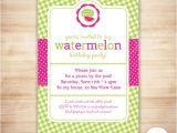 Free Watermelon Birthday Invitations Watermelon Party Invitation Template Watermelon Birthday