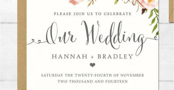 Free Wedding Invitation Template 16 Printable Wedding Invitation Templates You Can Diy