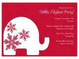 Free White Elephant Party Invitation Template Red Background Trendy White Elephant Invitations Polka