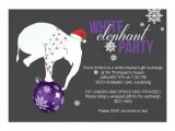 Free White Elephant Party Invitation Template White Elephant Party Invitation Purple Gray Zazzle