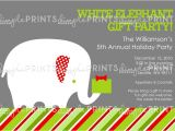 Free White Elephant Party Invitation Template White Elephant Printable Holiday Party Invitation Dimple