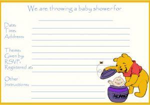 Free Winnie the Pooh Baby Shower Invitations 14 Heart Warming Winnie the Pooh Baby Shower Invitations