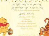 Free Winnie the Pooh Baby Shower Invitations Classic Winnie the Pooh Baby Shower Invitations