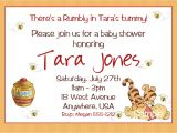 Free Winnie the Pooh Baby Shower Invitations Winnie the Pooh Baby Shower Invitations Printable Card