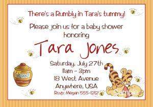 Free Winnie the Pooh Baby Shower Invitations Winnie the Pooh Baby Shower Invitations Printable Card