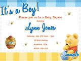 Free Winnie the Pooh Baby Shower Invitations Winnie the Pooh Baby Shower Invitations Templates Free