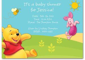 Free Winnie the Pooh Baby Shower Invitations Winnie the Pooh Baby Shower Invitations Templates