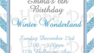 Free Winter Wonderland Party Invitations Winter Wonderland Invitation Winter Wonderland Birthday