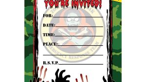 Free Zombie Birthday Party Invitation Template Zombie Hunter Fill In Invitations 16ct Zombie Birthday