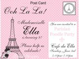 French Birthday Party Invitations Ellabella Designs French Pink Poodle Paris 8th Birthday