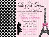French Bridal Shower Invitation Wording Paris Couple Bridal Shower or Engagement Invitation 3 to