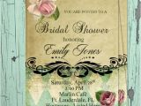 French Country Bridal Shower Invitations Bridal Shower Elegant French Country with Pink Rose