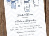 French Country Bridal Shower Invitations Navy Vintage Shabby Chic French Country Mason Jar Shower