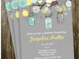 French Country Bridal Shower Invitations Vintage Shabby Chic French Country Mason Jar Shower by