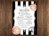 French Inspired Bridal Shower Invitations Parisian French Bridal Shower Invitations Paris France