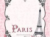 French Party Invitation Templates Paris Bridal Shower Invitations soiree Personalized European