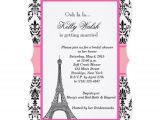 French Party Invitation Templates Personalized Eiffel tower Invitations