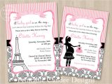 French themed Baby Shower Invitations Paris Invitations On Pinterest