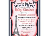 French themed Baby Shower Invitations Paris theme Baby Shower Invitations