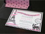 French themed Bridal Shower Invitations Bridal Shower French theme