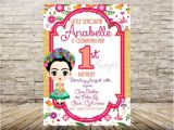 Frida Kahlo Party Invitations Items Similar to Frida Kahlo Invitation On Etsy