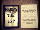 Friday the 13th Birthday Party Invitations Friday the 13th Birthday Invitations Diy Pinterest