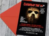 Friday the 13th Birthday Party Invitations Friday the 13th themed Halloween Invite by Helloinvitations