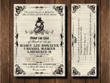 Friday the 13th Birthday Party Invitations Friday the 13th Wedding Invitation and Rsvp Ticket Gothic